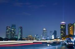 微明的曼谷市 免版税图库摄影