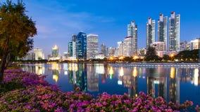 微明的曼谷 免版税库存图片