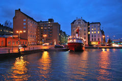 微明的赫尔辛基 免版税库存图片