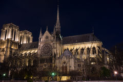 微明的巴黎圣母院 库存图片