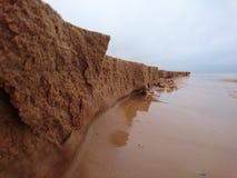 微沙子峭壁 库存照片