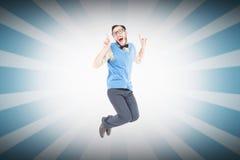 微笑万人迷行家的综合的图象跳跃和 图库摄影