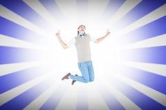 微笑万人迷行家的综合的图象跳跃和 免版税库存图片