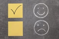 微笑和愤怒 免版税库存图片
