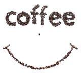 微笑咖啡豆 免版税库存图片