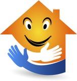 微笑家庭商标 免版税库存照片