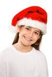 微笑对照相机的欢乐的小女孩 库存照片