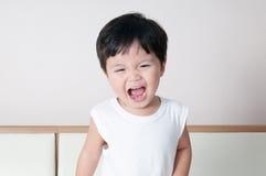 微笑小孩男孩画象 免版税库存照片