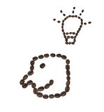 微笑形状的咖啡豆 库存图片