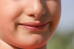 微笑没有牙的孩子 库存照片
