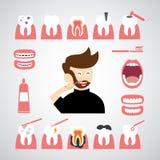 微笑牙齿传染媒介象 库存图片