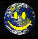 微笑的世界 免版税库存图片
