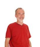 微笑的中年人特写镜头  免版税库存照片