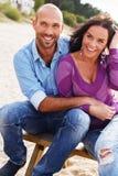 微笑的中年夫妇 图库摄影