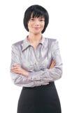 微笑的亚裔女实业家画象  免版税库存图片