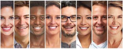 微笑的人集合 免版税图库摄影