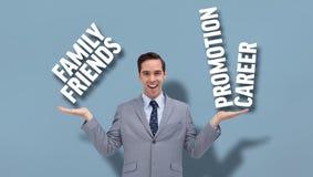 微笑的企业人提出的综合图象 免版税库存图片