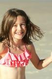 微笑的假日女孩 库存照片