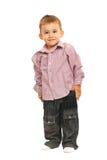 微笑的典雅的小孩 免版税库存照片