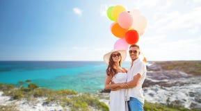 微笑的加上气球户外 库存图片