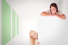 微笑的加上的综合图象whiteboard 库存图片