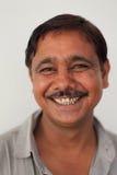 微笑的印第安人 库存图片