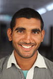 微笑的印第安人 免版税库存照片
