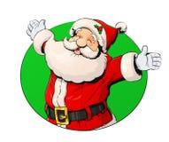 微笑的圣诞老人 库存照片