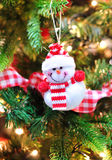 微笑的圣诞节雪人 免版税图库摄影