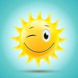 微笑的太阳 免版税库存图片