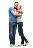 微笑的夫妇拥抱 图库摄影