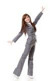 微笑的女商人 免版税库存照片