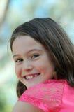 微笑的女孩 图库摄影