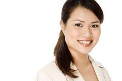 微笑的女实业家 免版税图库摄影