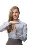 微笑的女实业家 免版税库存图片