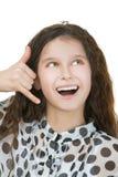 微笑的女小学生模拟 图库摄影