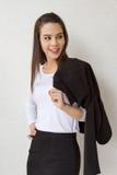微笑的女性商业主管 免版税库存照片