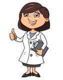 微笑的女性医生2 库存图片