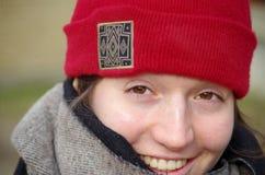 微笑的女朋友 免版税库存照片