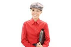 微笑的女服务员 免版税库存图片