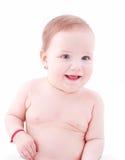 微笑的女婴 图库摄影