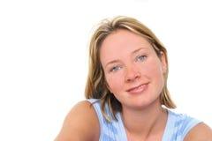 微笑的妇女 库存图片