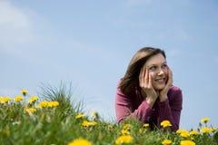 微笑的妇女 免版税图库摄影