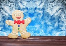 微笑的姜饼人 图库摄影