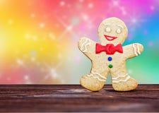 微笑的姜饼人 免版税库存图片