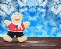 微笑的姜饼人 免版税库存照片