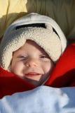 微笑的婴孩 图库摄影