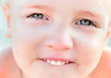 微笑的子项纵向  免版税图库摄影