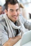 微笑的学生画象类的 免版税库存图片