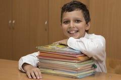 微笑的学生 免版税库存照片